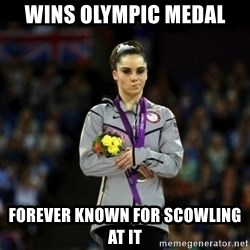 Unimpressed McKayla Maroney - Wins olympic medal forever known for scowling at it