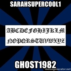 Gothic Font - sarahsupercool1 ghost1982