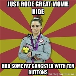 Not Impressed Makayla - Just rode great movie ride had some fat gangster with ten buttons