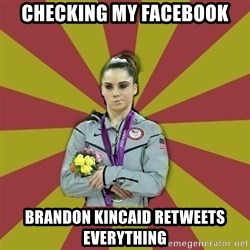 Not Impressed Makayla - checking my facebook brandon kincaid retweets everything