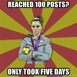 Not Impressed Makayla - Reached 100 posts? Only took five days