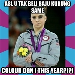 Makayla Maroney  - asl u tak beli baju kurung same colour dgn i this year?!?!