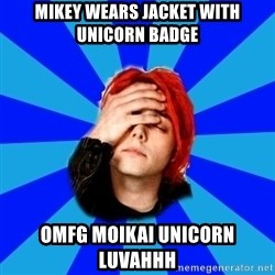 imforig - Mikey wears jacket with unicorn badge OMFG MOIKAI UNICORN LUVAHHH