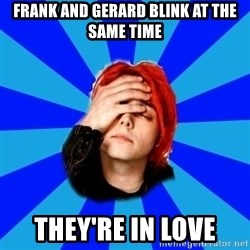 imforig - Frank and Gerard blink at the same time they're in love