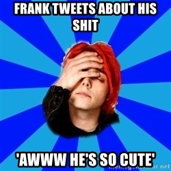 imforig - Frank tweets about his shit 'Awww he's so cute'