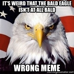 American Pride Eagle - it's weird that the bald eagle isn't at all bald wrong meme