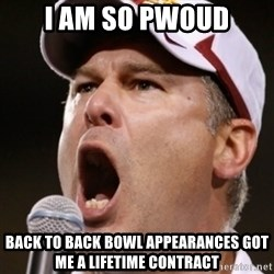 Pauw Whoads - I am so pwoud back to back bowl APPEARANCES got me a lifetime contract