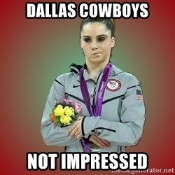 Makayla - Dallas Cowboys Not Impressed