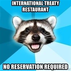 Lame Pun Coon - International treaty restaurant no reservation required