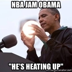 "Wizard Obama - nba jam obama ""he's heating up"""