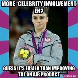 Makayla Maroney  - More *celebrity involvement eh? Guess it's easier than improving the on air product