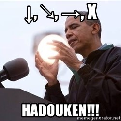 Wizard Obama - ↓, ↘, →, X HADOUKEN!!!