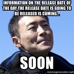 Kazunori Yamauchi - Information on the release DATE of the day the release date is going to be released is coming... Soon