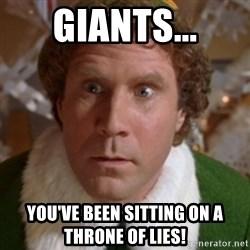 Throne of Lies Elf - Giants... YOu've been sitting on a throne of lies!