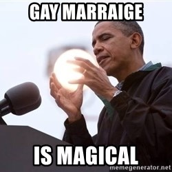 Wizard Obama - Gay marraige is magical