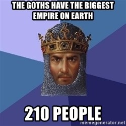 Age Of Empires - THE GOTHS HAVE THE BIGGEST EMPIRE ON EARTH 210 PEOPLE