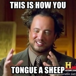 Ancient Aliens - This is how you Tongue a sheep