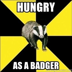 PuffBadger - Hungry AS a badger