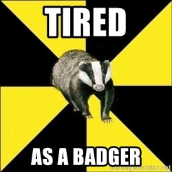 PuffBadger - Tired as a badger