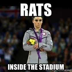 Unimpressed McKayla Maroney - rats inside the stadium