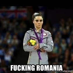 Unimpressed McKayla Maroney - fUCKING ROMANIA