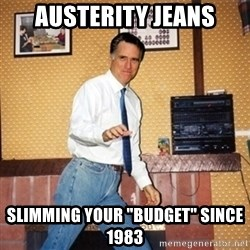 """Mom Jeans Mitt - austerity jeans slimming your """"budget"""" since 1983"""
