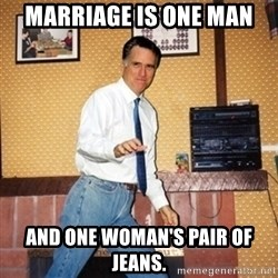 Mom Jeans Mitt - MARRIAGE IS ONE MAN AND ONE WOMAN'S PAIR OF JEANS.