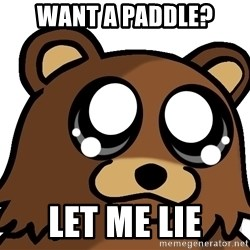 Pedobear Triste - want a paddle? let me lie