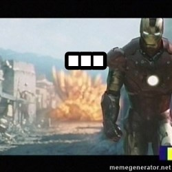 Iron man walks away - ...