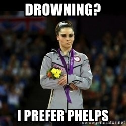 Unimpressed McKayla Maroney - Drowning? I prefer phelps