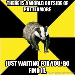 PuffBadger - There is a world outside of Pottermore just waiting for you. Go find it.
