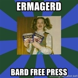 ERMAGERD STOOLS  - ERMAGERD BARD FREE PRESS