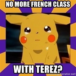 Crying Pikachu - NO more French class With terez?