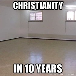 empty room2 - christianity in 10 years