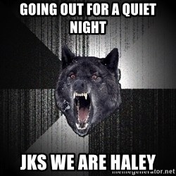 flniuydl - GOING OUT FOR A QUIET NIGHT JKS WE ARE HALEY