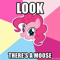 Pinkie Pie - LOOK THERE's a moose