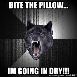 flniuydl - BITE THE PILLOW... IM GOING IN DRY!!!