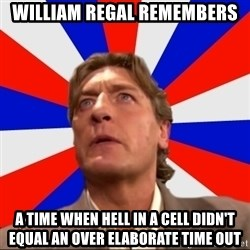 Regal Remembers - william regal remembers a time when hell in a cell didn't equal an over elaborate time out