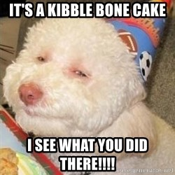 Troll dog - IT'S A KIBBLE BONE CAKE I SEE WHAT YOU DID THERE!!!!