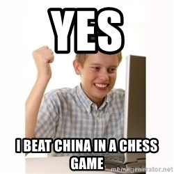 Computer kid - YES I BEAT CHINA IN A CHESS GAME