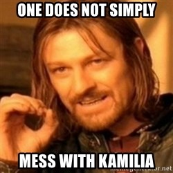 ODN - one does not simply mess with kamilia