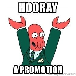 Hooray Zoidberg - HOORAY A PROMOTION