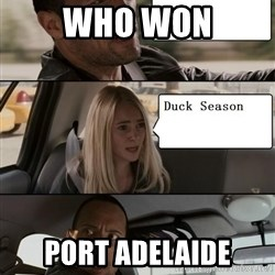 The Rock driving - WHO WON PORT ADELAIDE