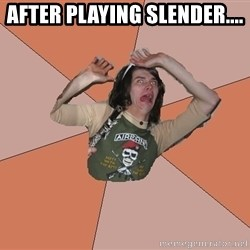 Scared Bekett - AFTER PLAYING SLENDER....