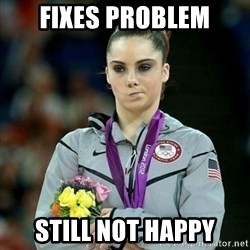 McKayla Maroney Not Impressed - Fixes problem still not happy