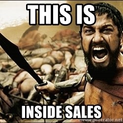 This Is Sparta Meme - This is  inside sales