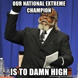 Rent Is Too Damn High - our national extreme champion is to damn high