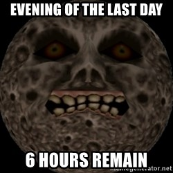 majoras mask moon - Evening of the last day 6 hours remain
