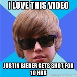 Just Another Justin Bieber - I LOVE THIS VIDEO  JUSTIN BIEBER GETS SHOT FOR 10 HRS