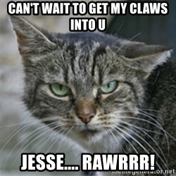 Dirty Cat - CAN'T WAIT TO GET MY CLAWS INTO U  JESSE.... RAWRRR!